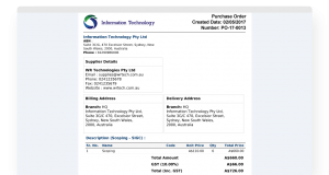 Purchase Order - Invoice