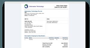 Sales Order - Invoice