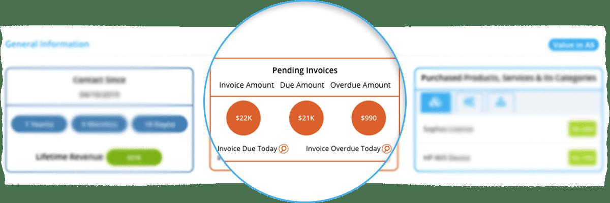 Invoice Calculation - Customer 360 View - Quiddity
