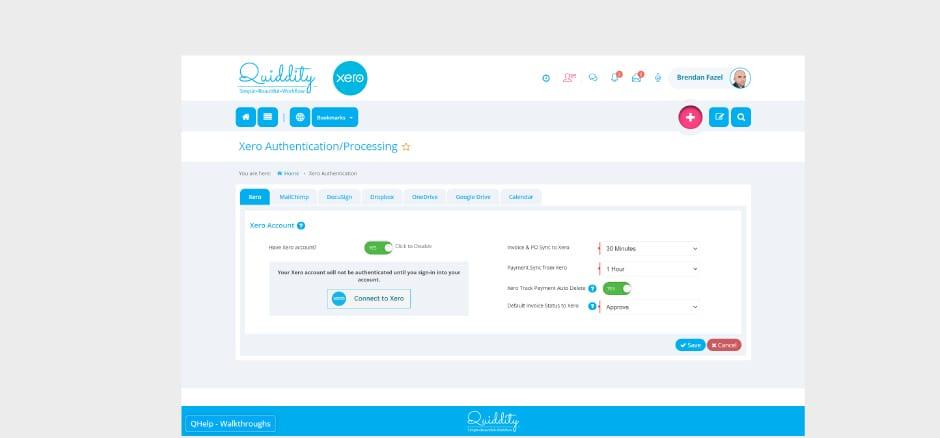 CRM Xero Integration 1 – Quiddity